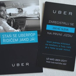 Uber řidič voucher